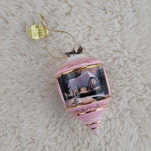 Thomas Kinkade 2002 Glowing Warmth Glass Ornament